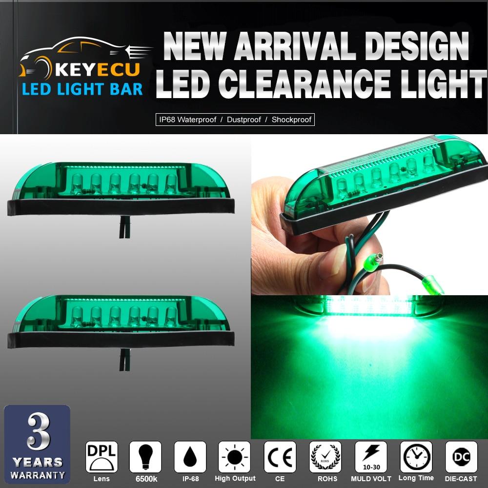 KEYECU 2PCS GREEN LED Strip Light Maker Light 4 Great Utility Light Indoor & Outdoor Lighting universal use on any application