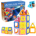 45pcs/Set Magnetic Bricks 3D Plastic Creative Bricks Construction Model Building Blocks Kits Learning Education Toys