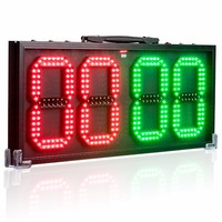 60cm 8 in LED Portable Football Electronic Soccer change player display board 1 side Referee substitution boards equipment