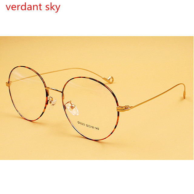2017 Óculos Homens Do Vintage Redonda Pequena de Metal Armações de Óculos  de Olho para As 9fe1f5b40a