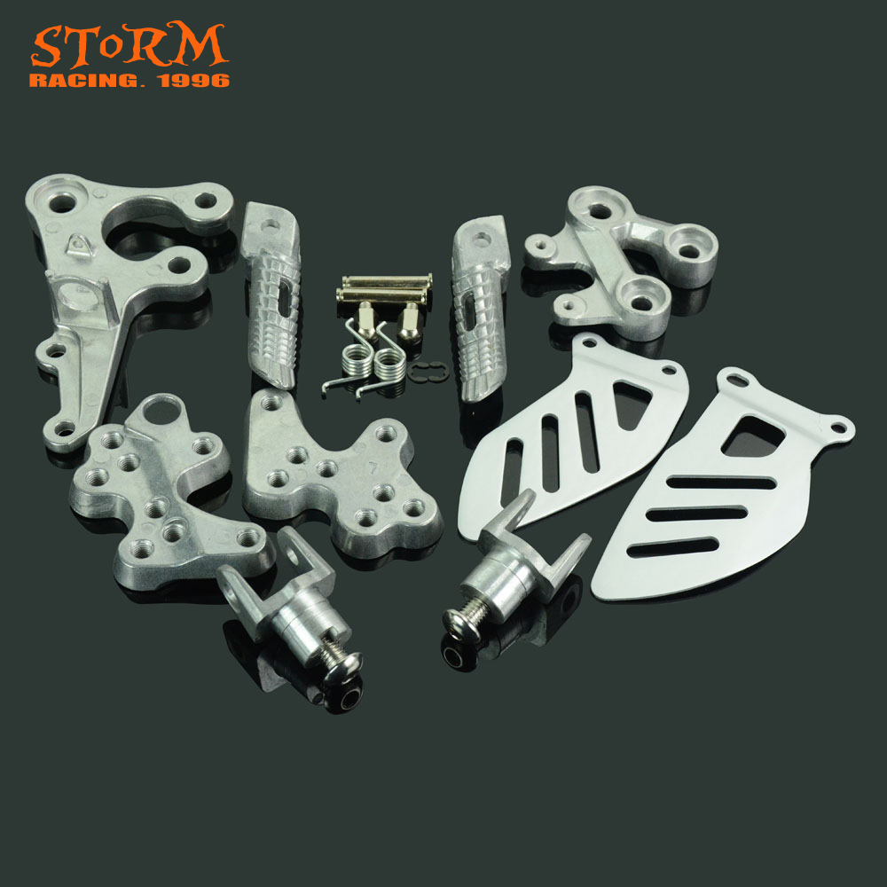 Front Footpegs Foot Pegs Footrest Pedals Bracket For SUZUKI GSXR1000 GSX R1000 GSX1000R 2005 2006 2007 2008 2009 2010 2011-in Foot Rests from Automobiles & Motorcycles    1