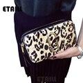 2017 New Arrival Real leather Hair Horse Back Women Snapshot Camera Shoulder Bags Designer Brand Leopard Printed Clutch Envelope