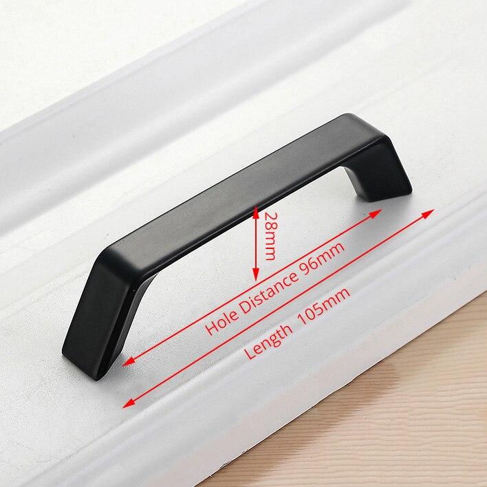 KAK американский стиль черный шкаф ручки цельный алюминиевый сплав кухонный шкаф ручки для выдвижных ящиков оборудование для обработки мебели - Цвет: Handle-6699C-96