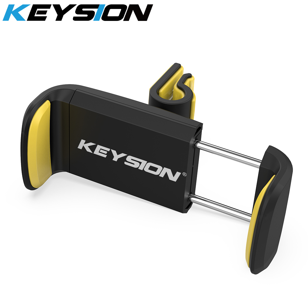 KEYSION Car Phone Holder For IPhone XS X Samsung S8 Air Vent Mount Car Holder For Phone In Car Mobile Support Phone Holder Stand