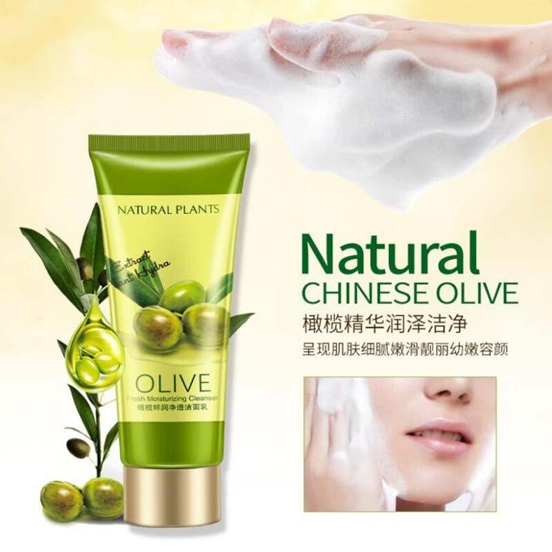 OneSpring оливковое очищающее средство для лица, богатый вспенивающий Очищающий увлажняющий контроль масла, очищающее средство для кожи лица - 3