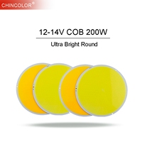 COB Light Lamp Source Chip 200W Ultra Bright Round LED DIY DC12 14V for Car Bulb Street Lighting Warm White Fast Ship JQ