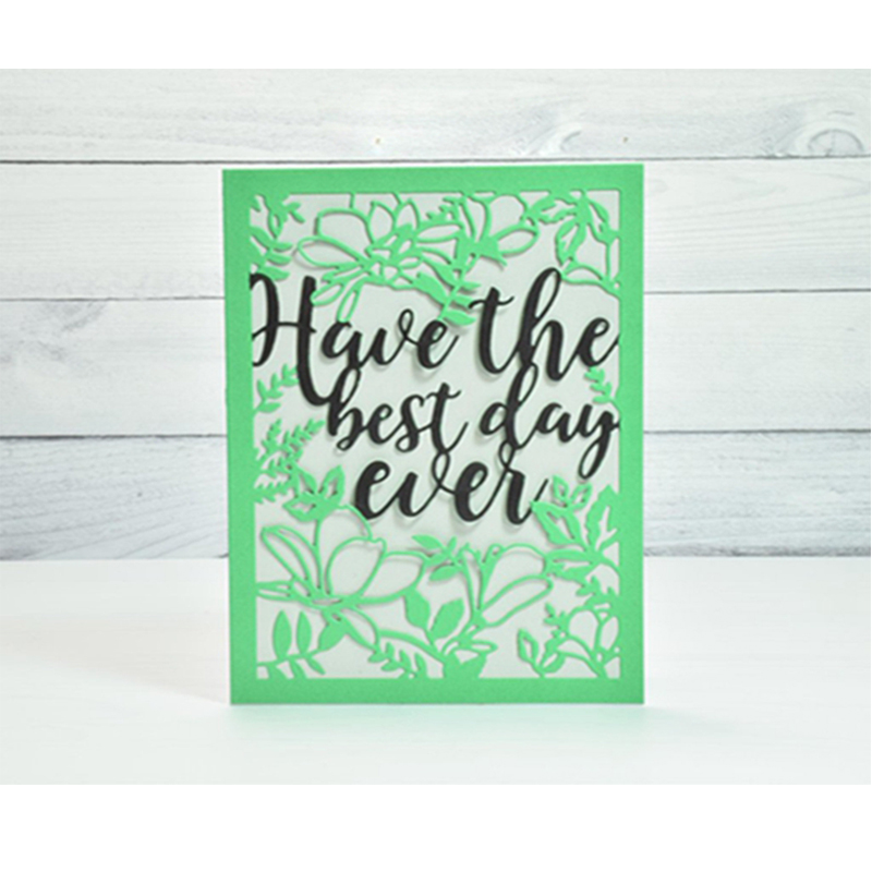 Have The Best Day Ever Flower Frames Metal Cutting Dies For Photo Album Decorative Embossing DIY Paper Cards Die Cutting Tools image