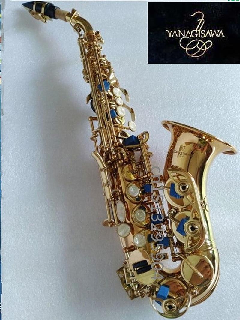 Hot selling Yanagisawa S-991 Curved Saxophone BB Tone Bell Curved Soprano Sax saxofone for Children Musical Instrument Hard box soprano saxophone bb wind instrument sax western instruments black saxofone saxofon soprano musical instruments black saxofon
