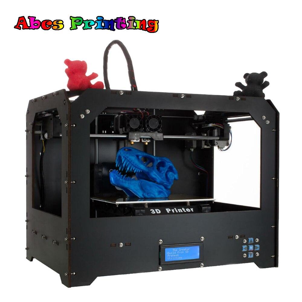 2018 Double Extrudeuses FDM 3D imprimante avec 2 Buse Basé sur MakerBot Replicator PLA/ABS 3D imprimante