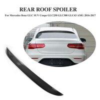 Углеродного волокна черный задний спойлер на крыше окна крылья для Mercedes Benz GLC GLC250 GLC43 AMG Спорт утилита 4 двери 16 17 стайлинга автомобилей