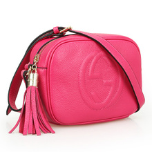 Fashion shoulder bags  Tassel solid color Small fresh genuine leather women Small crossbody shoulder bag