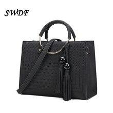 SWDF-frauen Handtaschen Frauen Messenger Taschen Nähen Feine Feste mit Quaste Handtasche Schultertasche Tasche Damen Sac ein Haupt