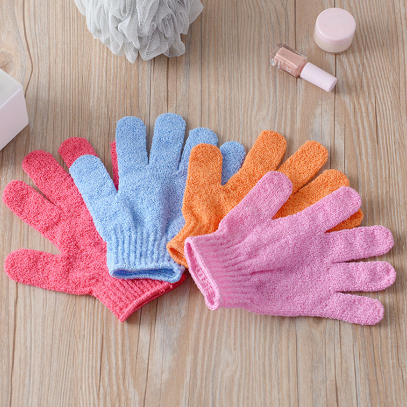 Five Fingers Bath Towel Gloves Bath Shower Candy Colors Body Wash Skin Spa Bath Scrubber Clean Brush Bath Amenities Multicolor