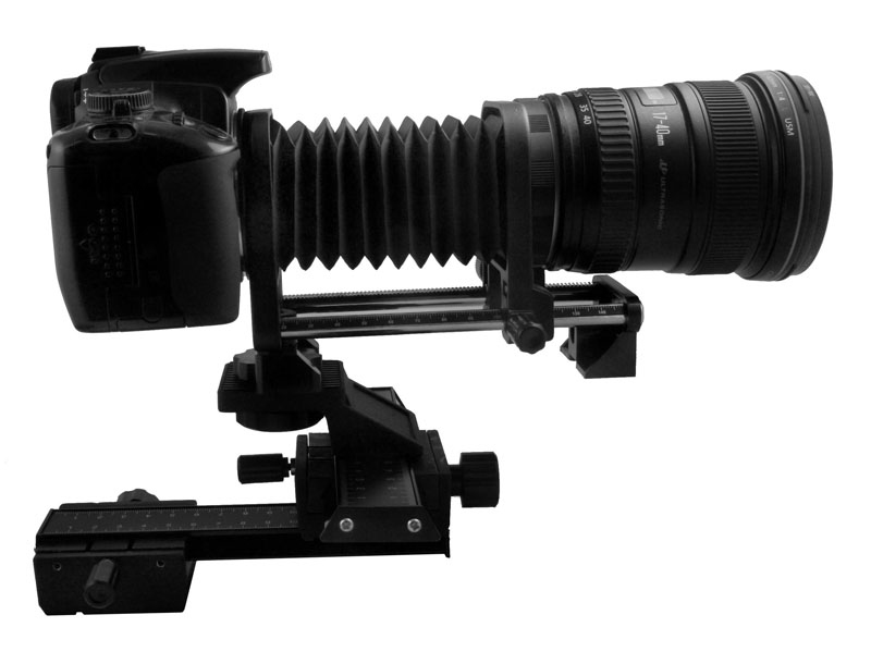 Pembesaran Makro Bellow untuk Canon DSLR Camera + 4-Way Macro Focusing Slide Rail