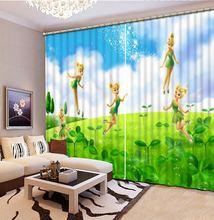 3d затемняющие шторы с зелеными листьями занавески для гостиной