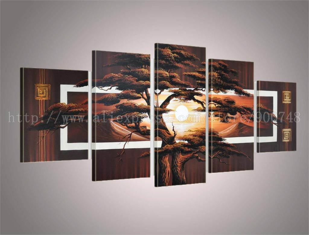 Handmade dining room oil paintings for living room background canvas wall painting art picture for Oil painting for living room