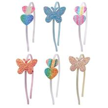 Solid Satin Flower Bow Heart Covered Hairbands For Women Girls Plastic Headbands Handmade Kids Candy Color Hair Accessories
