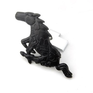 Image 3 - Black/Red Car Auto sticker Metal Running Horse Front Grill Grille Truck Hood Emblem Badge for Ford Mustang 1994 2004 car styling