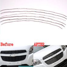 6pcs/Set Car Stainless Steel Front Grill Grille Cover Trim Grid Kit Insert Decoration For TRAX 2014 Car Styling