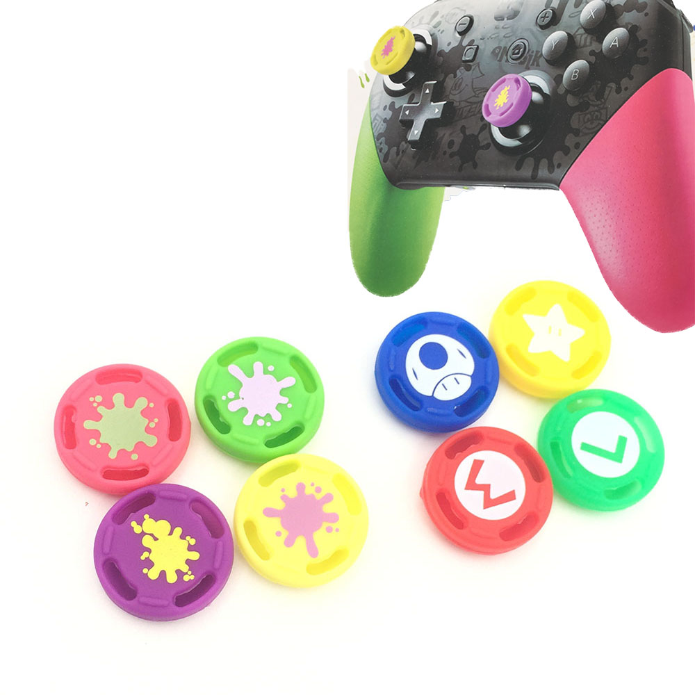 For Splatoon 2 Thumb Stick Grip Caps Nintendo Switch Pro Controller Edition Joystick Cap Analog Button Ps4 Xbox360 In Replacement Parts Accessories