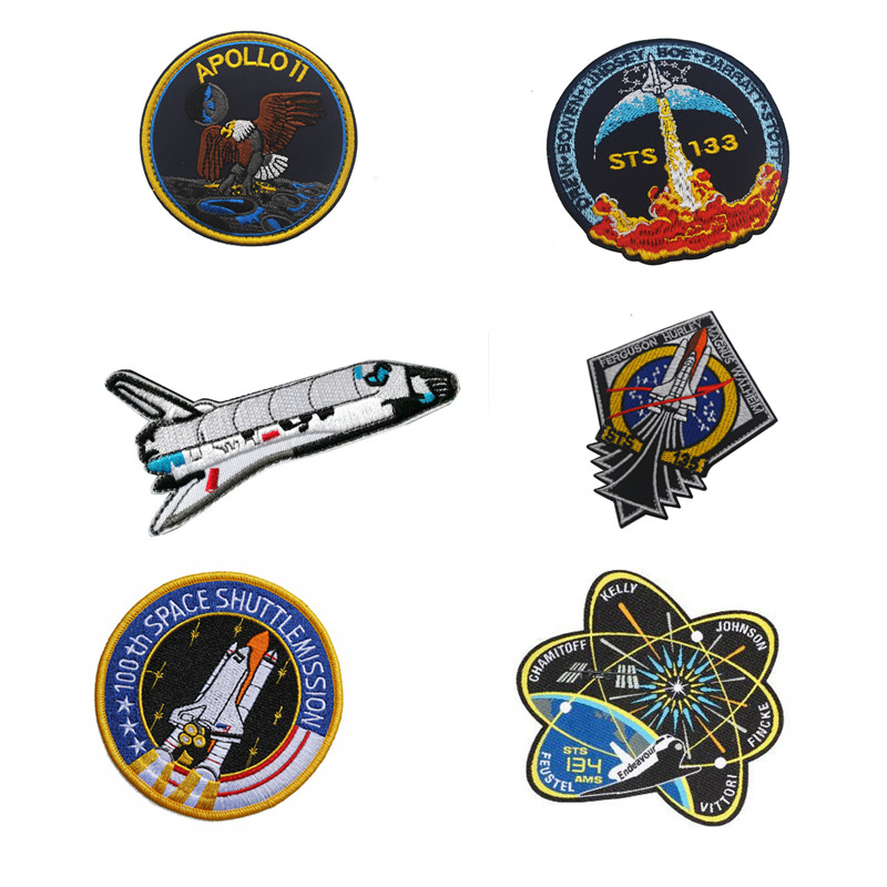 Space Air Force Flag Morale Patch Emblem Tactical Hook & Loop Embroidery Badge Morale Embroidered Patch Appliques emblem