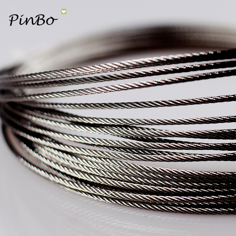 DasMorine 50M 304 Stainless Steel Cable,Outdoor Light Guide Wire,1//16 Bare OD,3//32 Coated OD 7x7 Strand Core Wire Rope,Black Vinyl Coated Wire Cable