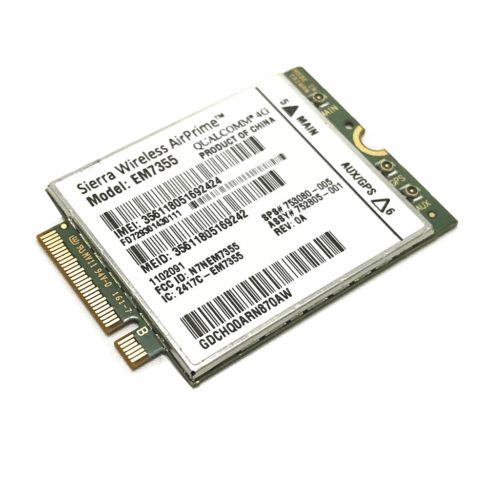 Gobi5000 Sierra Wireless Airprime EM7355 LTE EVDO/HSPA WWAN NGFF Unlock 4G Module For HP Elitebook 820 840 G1