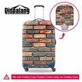 Dispalang parede de tijolos 3d impressão bagagem capa protetora para 18-30 polegada caso tronco padrão de tecelagem elástico mala à prova d' água cobrir
