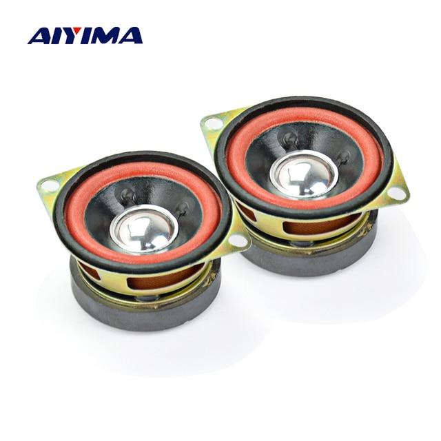 AIYIMA 2 piezas 2 pulgadas de Audio portátil altavoces 8 Ohm 10 W Altavoz portátil de altavoces de gama completa para bricolaje casa teatro Multimedia