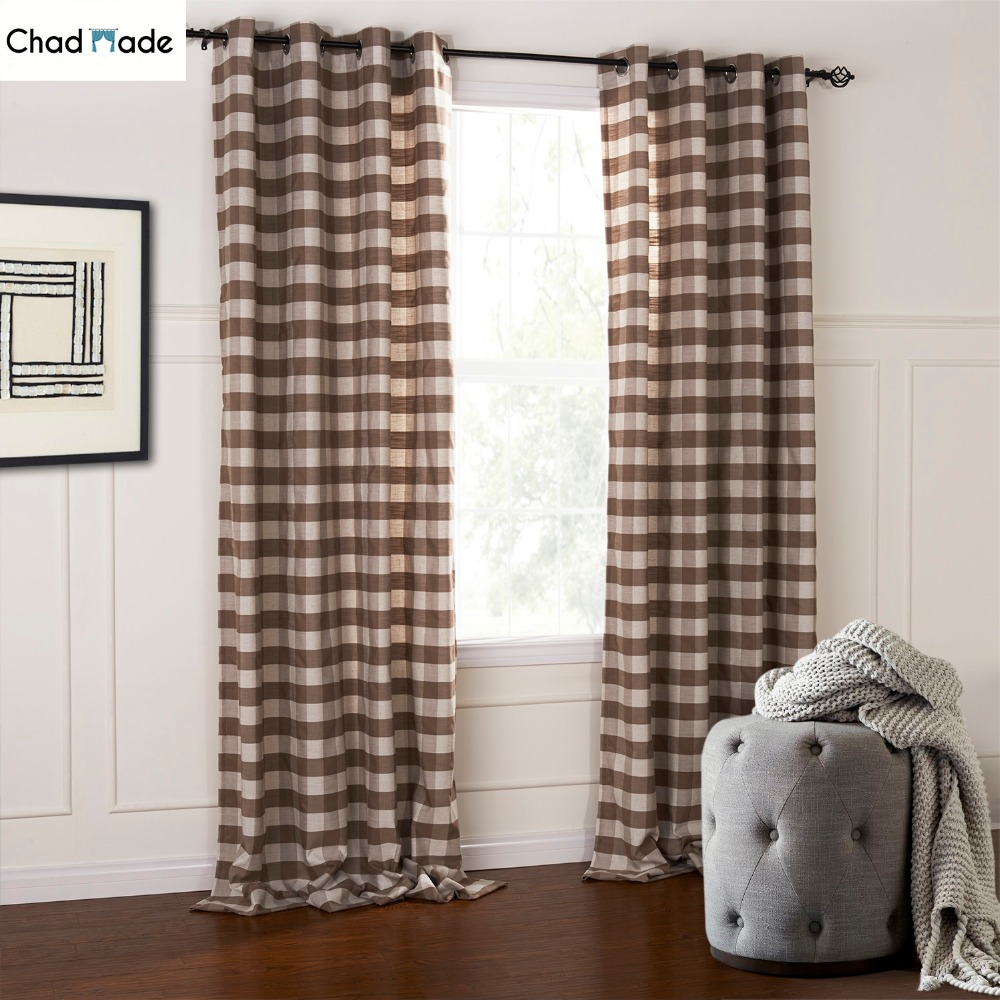 Frilled Kitchen Curtains Lined: ChadMade Brief Blackout Lined Curtains For Bedroom Modern