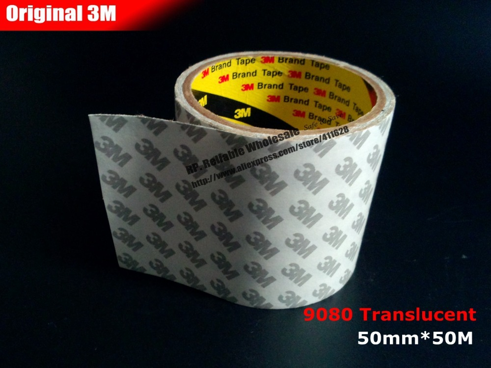50mm 50M 0 16mm 5cm Double Sides Adhesive Tape 3M 9080 for Control Panel font