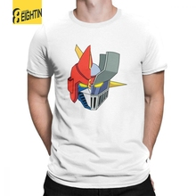 Voltes V Mazinger Z T Shirts Short Sleeved O Neck Purified Cotton Male Tee Shirts 2018 Fashion T-Shirt Printing Large Size Comic