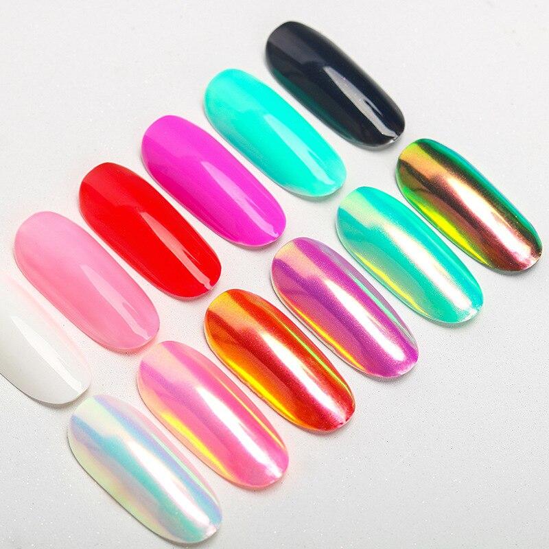 Image 4 - Chrome Pearl Shell Powder Nail Art Glitter Pigment Unicorn Powder Long Lasting Manicure Nail Tip Decoration Gel Polish Dust-in Nail Glitter from Beauty & Health