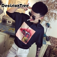 2019 summer men shirts half sleeve printed pocket casual blouse ethnic shirt male tops chemise plus