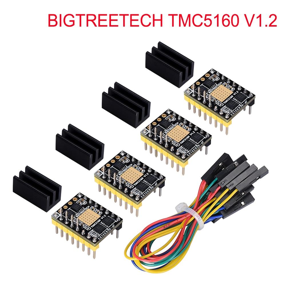 BIGTREETECH TMC5160 V1.2 SPI Stepper Motor Driver 6-layer Board VS TMC2208 TMC2209 3D Printer Parts For Ender 3/5 SKR V1.3 Pro
