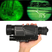 Hunting Night Vision Zoom Monocular Telescopes 5X40 HD BAK4 Adjustable Focus 200m infrared camera Digital Video Record Device