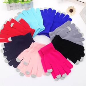 Winter Warm Touchscreen-Gloves Mittens Smartphone Texting Knit Girls Hot Solid Unisex