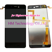 Black LCD TP for Highscreen Alpha Ice LCD Display Touch Screen Digitizer Assembly Smartphone Replacement Part