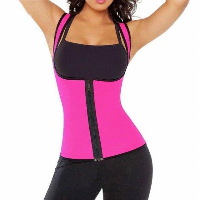 68252f0c01 Plus Size Hot Body Shapers Vest Neoprene Sweat sauna Waist trainer Slimming  vest shapewear weight loss Belly Cincher Corset  0