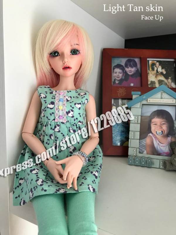 HeHeBJD girl Celine body of your choise resin figures face make up or no free shipping