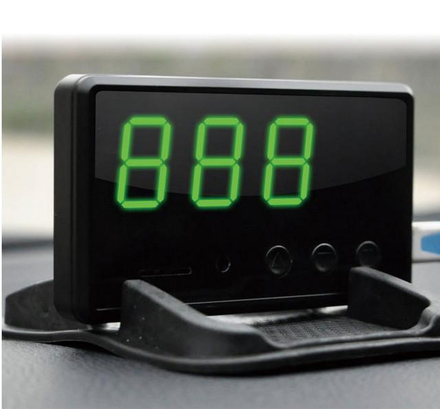 Envío Gratis 2016 Nuevo Coche GPS Data Logger HUD Pantalla de Cabecera GPS alarma de exceso de velocidad de la Ayuda 32G TF tarjeta, soporte GPS TRACK