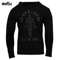 MUSCLE ALIVE Brand Clothing Men Hoodies Bodybuilding Sweatshirt Hoodies Man Sportswear Long Sleeve Tracksuit Men Cotton