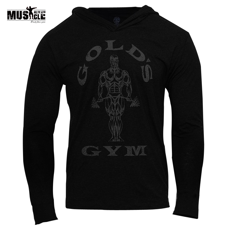 MUSCLE LEBENDIG Marke Kleidung Männer Hoodies Bodybuilding Sweatshirt Hoodies Mann Sportswear Langarm Trainingsanzug Männer Baumwolle Slim Fit