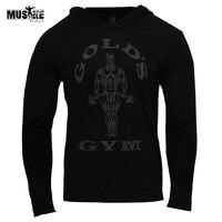 MUSCLE ALIVE Brand Clothing Men Hoodies Bodybuilding Sweatshirt Hoodies Man Sportswear Long Sleeve Tracksuit Men Cotton