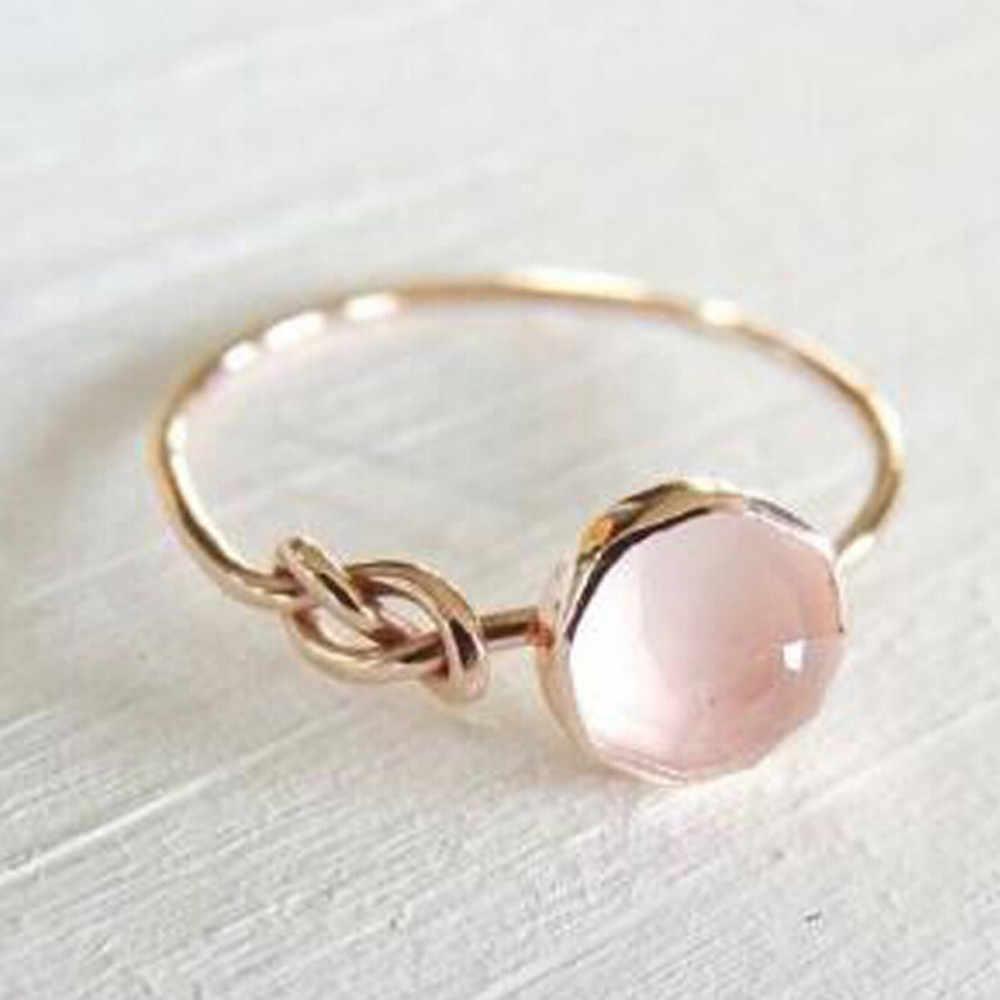 หินธรรมชาติแหวนผู้หญิงแหวนเจ้าสาวงานแต่งงานแหวน Gorgeous วันเกิดของขวัญ Anillos เครื่องประดับยอดเยี่ยม Aneis เครื่องประดับ