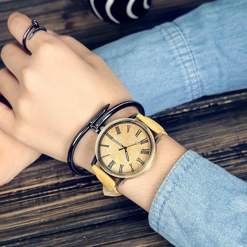 MEIBO Fashion Brand Watches for Men Wooden Color Leather Watchband Wrist watches Casual Quartz Men's Watch relojes hombre montre meibo brand top men casual simple quartz