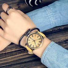 MEIBO Fashion Brand Watches for Men Wooden Color Leather Watchband Wrist watches Casual Quartz Men's Watch relojes hombre montre