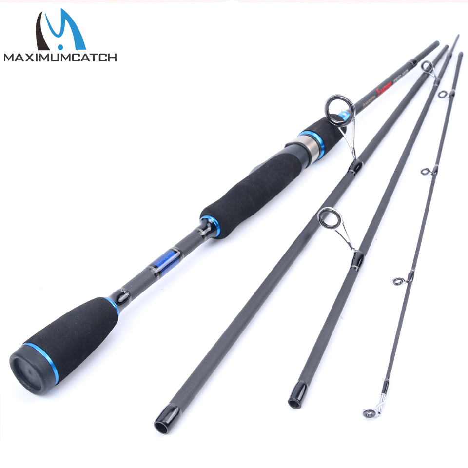 2.7m Travel Spinning Rod 4pc Lure Weight 10-25g Fishing Pole for Sea Fishing