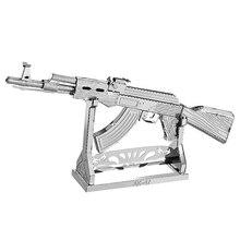 DIY 3D Metal Nano Puzzle Beretta 92 AK47 Gun Weapon Building Model Kit 3D Laser Cut Jigsaw Toy 1pcs