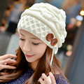 Sweet Women's Fashion Winter Warm Cable Knit Thick Slouch Beanie Ear Muff Cap